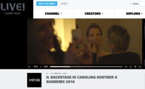 Il backstage di Carolina Kostner a Sanremo 2016